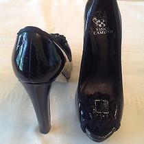 Vince Camuto Heels Black Shoes Womens Size 7.5 B Photo