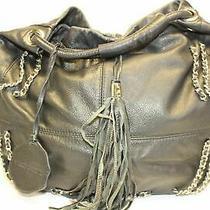 Vince Camuto Hobo Bag Lux Leather Bag Boho Handbag Leather Fringe Purse Photo