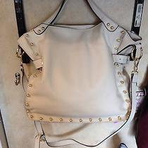 Vince Camuto Ivory Cream Bolt Leather Handbag  Nwt Crossbody Strap. Photo