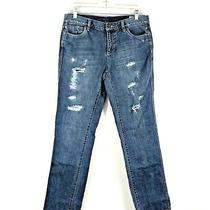 Vince Camuto Jeans Women Size 29 Blue Ripped Denim Straight Leg Mid Rise Photo