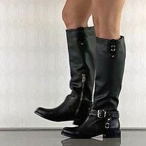 Vince Camuto Kabo Rich Black Leather Calf Tall Riding Boots 8 B New Photo