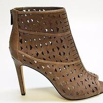 Vince Camuto Kachina Women's Taupe Leather Heeled Booties Us 7.5 Eu 37.5 A365c Photo