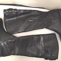 Vince Camuto Keaton Womens Size 10 Black Leather Fashion Riding Boots New in Box Photo