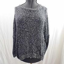 Vince Camuto Knit Sweater With Sequins Sz L Zip Back Photo