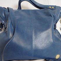 Vince Camuto Large Blue Leather Handbag/crossbody-