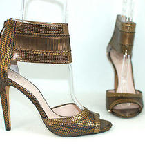 Vince Camuto Latese Metallic Bronze Ankle Strapped High Heels Sandals Shoes Sz 9 Photo