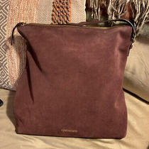 Vince Camuto Leather and Suede Hobo Elois Deep Sugar Plum Shoulder Bag Photo
