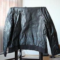 Vince Camuto Leather Bomber Jacket Photo