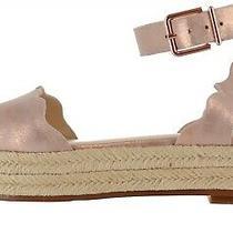 Vince Camuto Leather Espadrille Sandals Kamperla Blush 8.5m New A353480 Photo