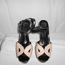 Vince Camuto Leather/patent Leather Stiletto 9 Photo