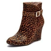 Vince Camuto Leopard Booties Wedges Size 7.5 Dena2 Retail 160 Fall Fashion Photo