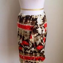 Vince Camuto Lined Mock Sarong Skirt in Salmon Sz 6 Photo