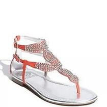 Vince Camuto Martinique Sandals Flats Coral W Crystals Thong Sandal Shoe Sz 7.5 Photo