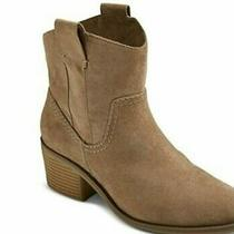 Vince Camuto Maves Ankle Bootie Suede Boot Tan Heeled Women Size 6.5 M  Photo