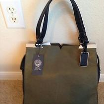 Vince Camuto Max Tote  Olive Leater/graphit Seage 298   Photo