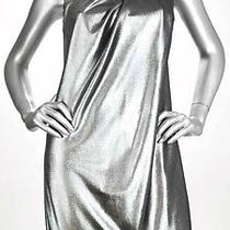 Vince Camuto Metallic Silver One Shoulder Party Dress Women's Size 10 Nwt Photo