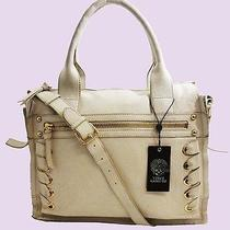 Vince Camuto Mica Vanilla Genuine Leather Hobo Bag Msrp 258.00 Free Shipping Photo