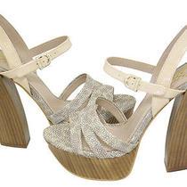 Vince Camuto Miner Natural Multi Platform Sandals Shoes 10 New Photo