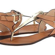 Vince Camuto Miya Cleopatra Gold Snake Ankle Strap Sandal Shoe 7 New Photo