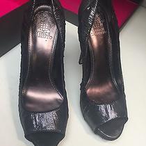Vince Camuto Moda Sz. 8.5 M Silver Glitz Peep-Toe Platform Heels Photo