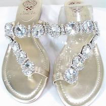 Vince Camuto Nwb Sandals Gold Toe Ring Heavily Jeweled Spectacular Vc-Imanal Photo
