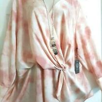 Vince Camuto Nwt 125 Blush Rose Watercolor Wrap Front Blouse Top Plus 3x Photo