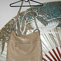 Vince Camuto Pebbled Leather  Tote Shoulder Bag Dark Wheat Purse Photo