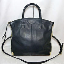 Vince Camuto Pilar Black Leather Tote Photo