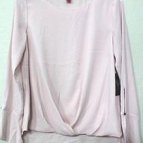 Vince Camuto Pink Blush Drape-Front Flutter-Cuff Flowy Blouse Small Nwt Photo