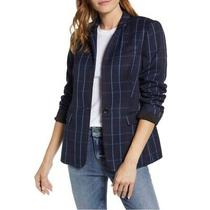 Vince Camuto Plaid Blazer Jacket Professional Navy Blue Womens Size 16 New 249 Photo