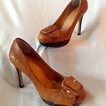 Vince Camuto Pumps W/ Toe Buckle Light Brown/tan Size 6b Sexy Photo