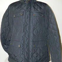 Vince Camuto Quilted 4 Pocket Field Coat Zip & Button Navy Vm4ap288 Size Medium Photo