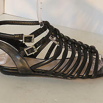 Vince Camuto 'Riness' Womens 9 M Black Leather Sandals Flat Photo