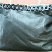 Vince Camuto ''ruedi'' - Soft Leather Satchel Hobo Bag Purse Blackpebbled Photo