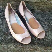 Vince Camuto Ryssa Size 9.5 Nude Patent Leather Wedge Pumps 39.5 Uk Photo