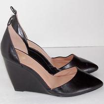 Vince Camuto Signature Black Wedge Heels Shoe Size 8 M Photo