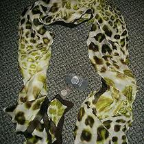 Vince Camuto Silk Leopard Print Scarf. Nwt Free Shipping  Photo