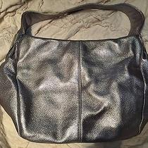 Vince Camuto Silver Leather Bag Tote Purse Photo