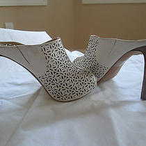 Vince Camuto Size 10m/40 High Heel Leather Mule - Cream Photo
