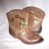 Vince Camuto Size 6.5 M New Womens Brown Gold Ankle Mid Calf Boots Shoes Photo