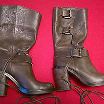 Vince Camuto Size 6.5b Skylas Chocolate Vintage Tumbled Mid Calf Boots Msrp 229 Photo