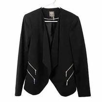 Vince Camuto Size 8 Black Suit Blazer Jacket Zipper Photo