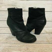 Vince Camuto Sz  7b Black Belta Zip Up Booties Boots Photo