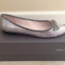 Vince Camuto Tanyah Flats Grey Diamond Bow 7m Nwb Photo