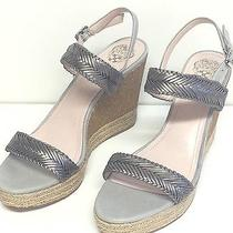 Vince Camuto Tazma Women Leather Wedge Sandals Shoes Size 10 Nwdf Photo