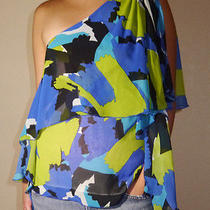 Vince Camuto Tribal Luxe One Shoulder Top Size 4 Retail 120 Photo
