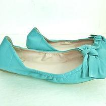 Vince Camuto Turquoise Leather Classic Ballet Flats  Woman's 9.5 M Photo