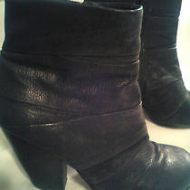 Vince Camuto Vc-Belta Black Zip Up Ankle High Heel Black Boots  7b/37 Photo