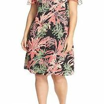 Vince Camuto 'Wildflower Bloom' Floral Print Shift Dress (Plus Size) (Size 18w) Photo