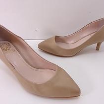 Vince Camuto Women's 'Goldie' Kitten Heel Pointy Toe Pump -Beige- Size 6.5 Photo